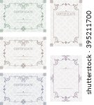 a set of certificates. template ... | Shutterstock .eps vector #395211700