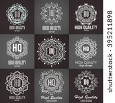monogram design elements ... | Shutterstock .eps vector #395211898