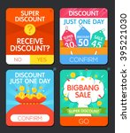 set of colorful sale and...