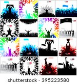 posters with cheering fans | Shutterstock .eps vector #395223580