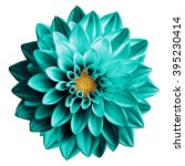 surreal dark chrome turquoise... | Shutterstock . vector #395230414