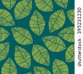 bright leaf pattern | Shutterstock .eps vector #395231230