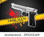gun and crime | Shutterstock .eps vector #395232169