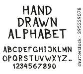 alphabet. hand drawn letters... | Shutterstock . vector #395239078
