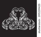 vintage baroque frame scroll... | Shutterstock .eps vector #395239420