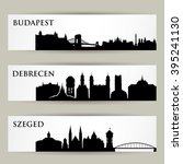 hungary city skylines   vector... | Shutterstock .eps vector #395241130