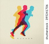 runner concept illustration of... | Shutterstock .eps vector #395241706