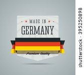 made in germany label. vector... | Shutterstock .eps vector #395250898