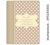 cover for notebook notepad yl...   Shutterstock .eps vector #395254303