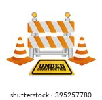 under construction barrier... | Shutterstock .eps vector #395257780