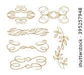 set of elegant floral elements...   Shutterstock .eps vector #395257948