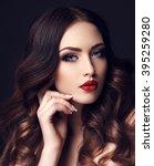 fashion studio photo of... | Shutterstock . vector #395259280