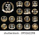 set of golden anniversary... | Shutterstock .eps vector #395262298