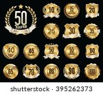 set of golden anniversary... | Shutterstock .eps vector #395262373
