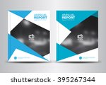 blue annual report template... | Shutterstock .eps vector #395267344