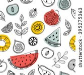 fruit seamless pattern.... | Shutterstock .eps vector #395275363