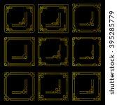 vector frames borders art deco... | Shutterstock .eps vector #395285779