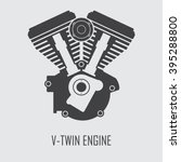 Motorcycle Engine V Twin Vecto...