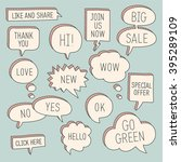 hand drawn speech bubbles  ... | Shutterstock .eps vector #395289109