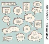 hand drawn speech bubbles  ... | Shutterstock .eps vector #395289109
