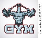 bodybuilder man lifting heavy... | Shutterstock .eps vector #395289820