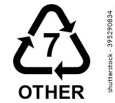 plastic recycling symbol other... | Shutterstock .eps vector #395290834