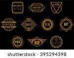 art deco badges vector logos | Shutterstock .eps vector #395294398
