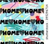 modern kids seamless pattern... | Shutterstock .eps vector #395296714
