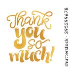 vector illustration of thank... | Shutterstock .eps vector #395299678