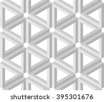 illusion triangles pattern in... | Shutterstock .eps vector #395301676