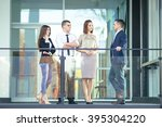 group of young business people... | Shutterstock . vector #395304220