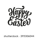 happy easter lettering text | Shutterstock .eps vector #395306044