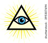 vector symbol   all seeing eye. ... | Shutterstock .eps vector #395307694