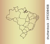 map of brazil   Shutterstock .eps vector #395308408