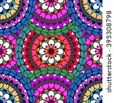 mandala background. vintage...   Shutterstock .eps vector #395308798