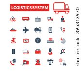 logistics system icons  | Shutterstock .eps vector #395313970