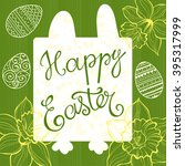 happy easter. greeting card or... | Shutterstock .eps vector #395317999