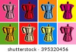 classic coffee maker... | Shutterstock .eps vector #395320456