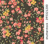 beautiful dark green floral...   Shutterstock .eps vector #395321200