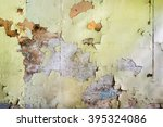 grunge concrete wall with... | Shutterstock . vector #395324086