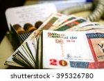 cuban convertible pesos  with... | Shutterstock . vector #395326780