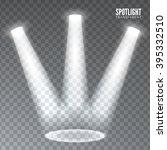 three light powerful beam on... | Shutterstock .eps vector #395332510