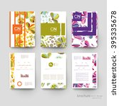 floral ornament vector brochure ... | Shutterstock .eps vector #395335678