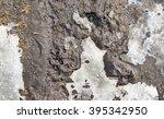 Muddy Ice Melting Mud Texture...