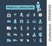 medical consulting icons  | Shutterstock .eps vector #395345410