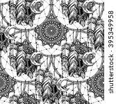 hand drawn seamless pattern...   Shutterstock .eps vector #395349958