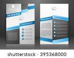 abstract vector modern flyers...   Shutterstock .eps vector #395368000