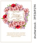 vintage delicate invitation... | Shutterstock .eps vector #395369194