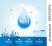 save water vector concept water ...