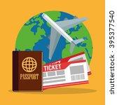 travel icon design  | Shutterstock .eps vector #395377540
